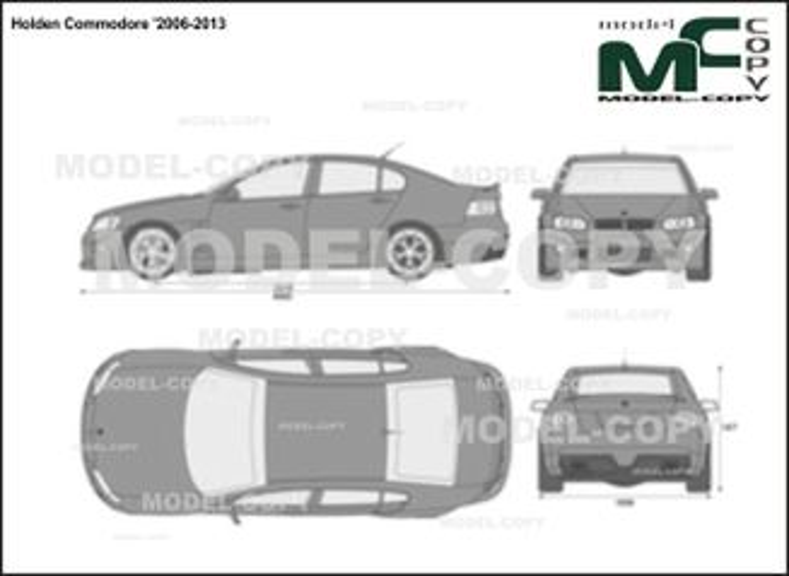 Holden Commodore '2006-2013 - 2D-чертеж