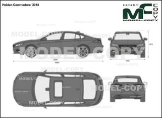 Holden Commodore '2018 - 2D drawing (blueprints)