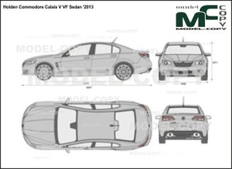 Holden Commodore Calais V VF Sedan '2013 - 2D drawing (blueprints)