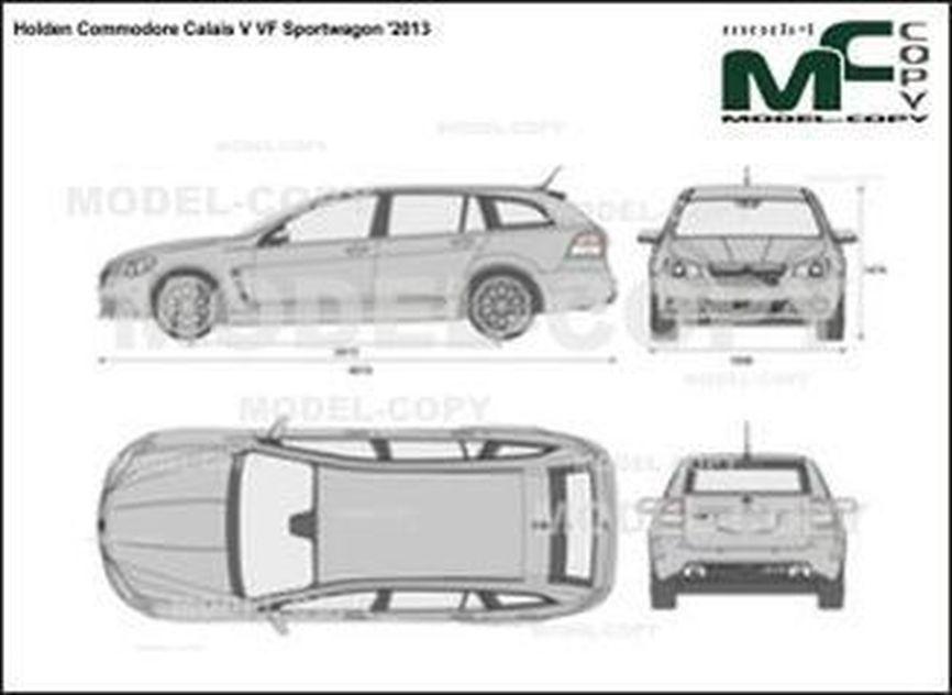 Holden Commodore Calais V VF Sportwagon '2013 - 2D-чертеж