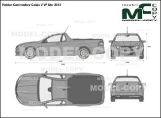 Holden Commodore Calais V VF Ute '2013 - 2D drawing (blueprints)