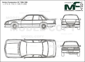 Holden Commodore VK '1984-1986 - 2D図面