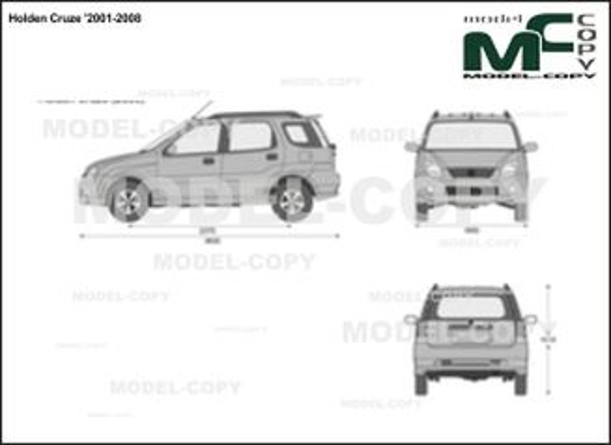 Holden Cruze '2001-2008 - 2D-чертеж