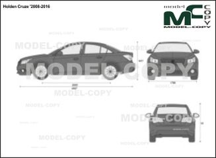 Holden Cruze '2008-2016 - 2D-чертеж