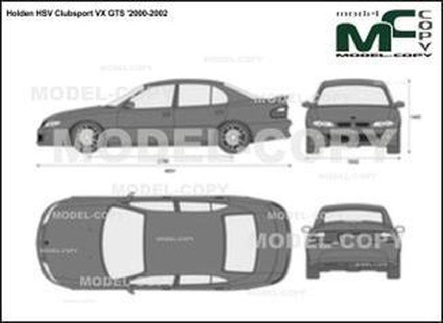 Holden HSV Clubsport VX GTS '2000-2002 - 2D drawing (blueprints)