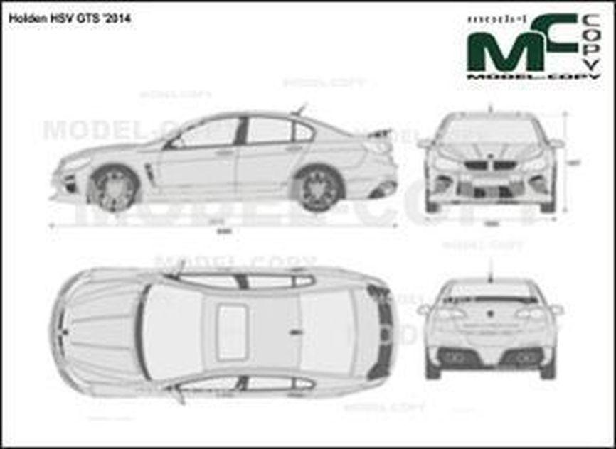 Holden HSV GTS '2014 - 2D図面