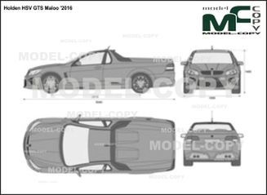 Holden HSV GTS Maloo '2016 - 2D-чертеж