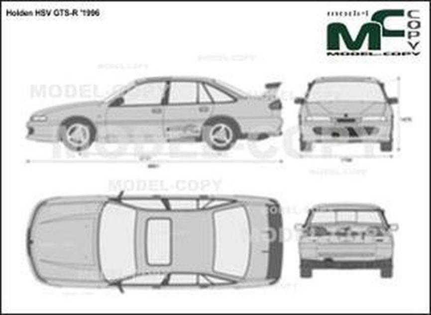 Holden HSV GTS-R '1996 - 2D-чертеж