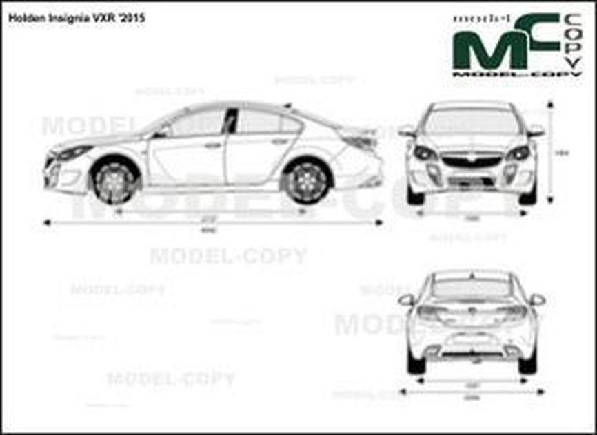Holden Insignia VXR '2015 - 2D-чертеж
