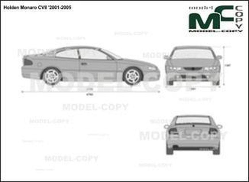Holden Monaro CV8 '2001-2005 - 2D-чертеж