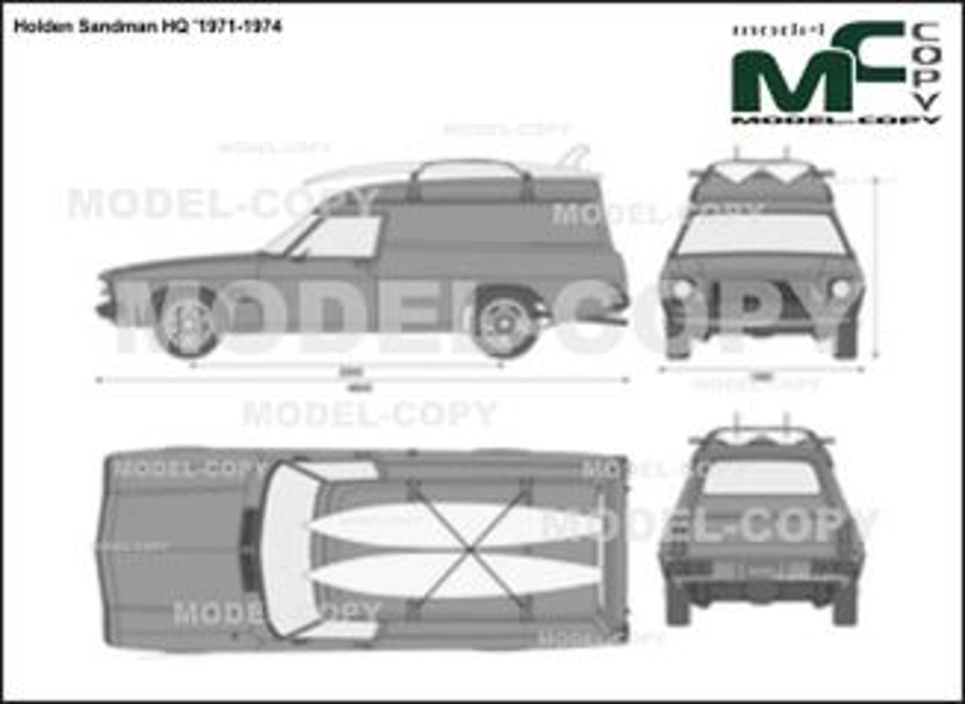 Holden Sandman HQ '1971-1974 - 2D drawing (blueprints)