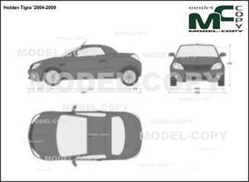 Holden Tigra '2004-2009 - 2D-piirustus