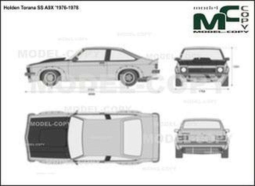 Holden Torana SS A9X '1976-1978 - 2D drawing (blueprints)