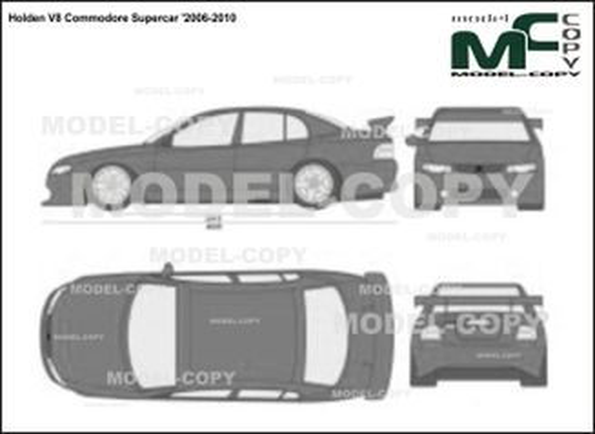 Holden V8 Commodore Supercar '2006-2010 - 2D-чертеж