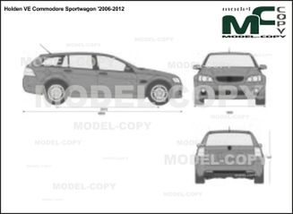 Holden VE Commodore Sportwagon '2006-2012 - 2D drawing (blueprints)