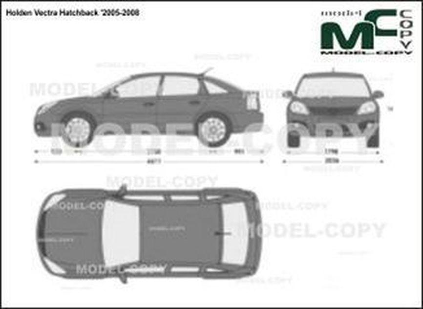 Holden Vectra Hatchback '2005-2008 - 2D drawing (blueprints)