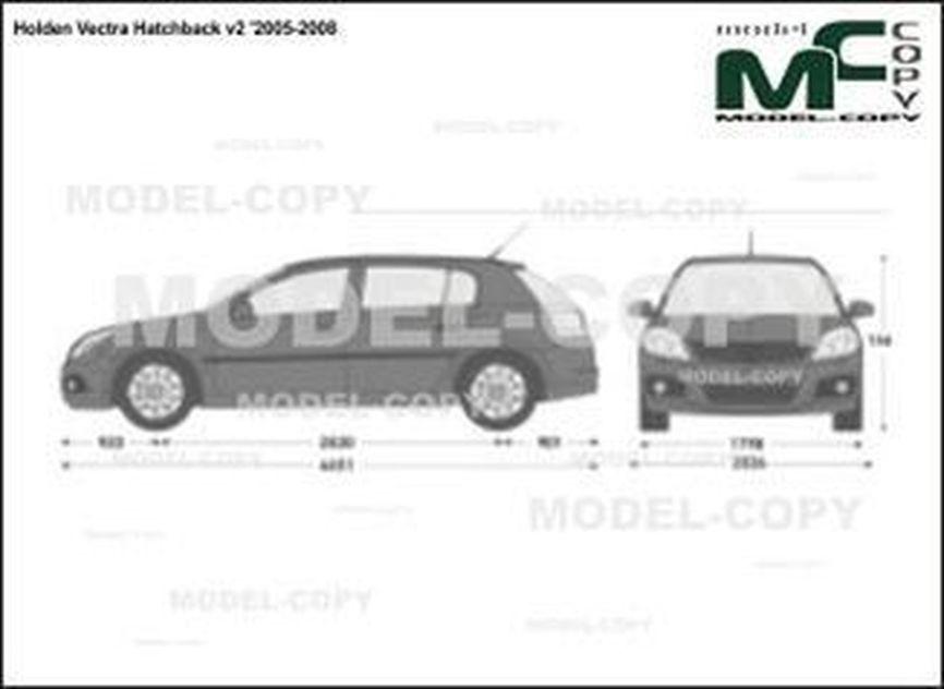 Holden Vectra Hatchback v2 '2005-2008 - 2D図面