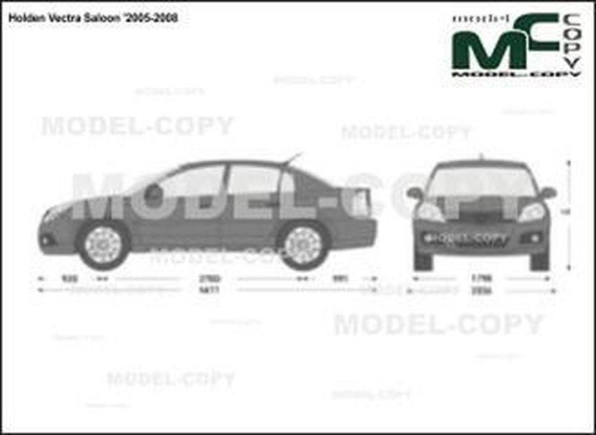 Holden Vectra Saloon '2005-2008 - Desenho 2D