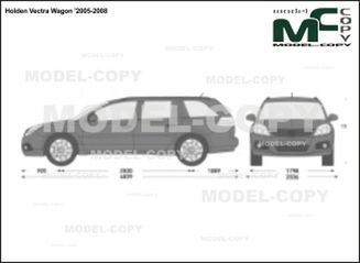 Holden Vectra Wagon '2005-2008 - 2D drawing (blueprints)