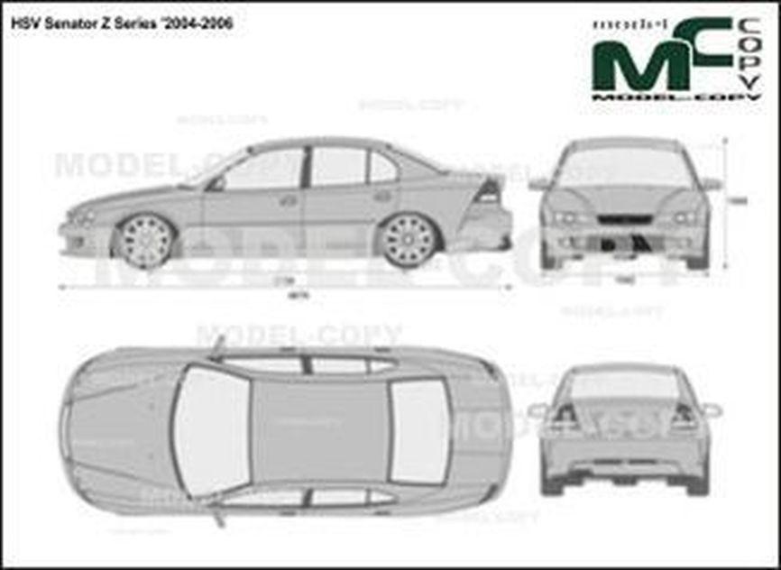 HSV Senator Z Series '2004-2006 - 2D図面