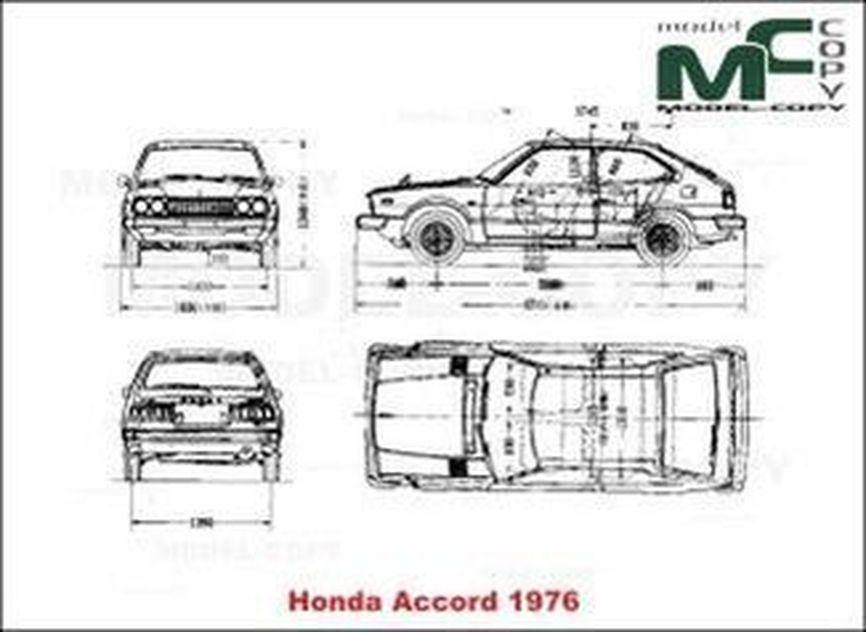 Honda Accord (1976) - drawing