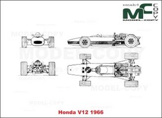 Honda V12 (1966) - 2D drawing (blueprints)