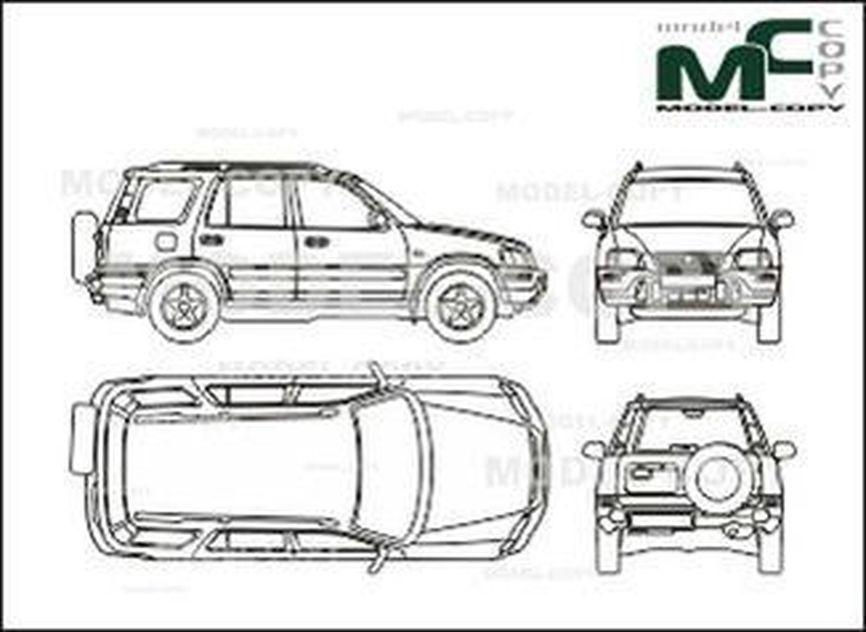 honda cr-v - 2d drawing  blueprints  - 26569
