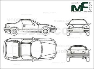 honda crx del sol - drawing - 26570