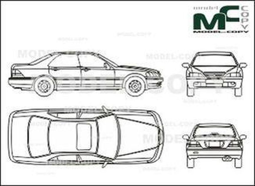 Honda Legend - drawing