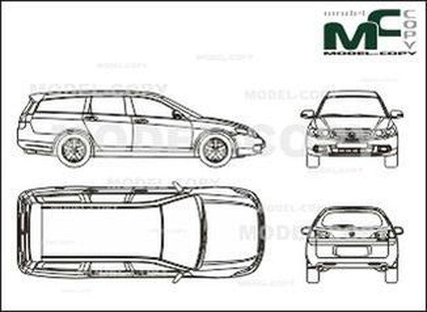 Honda Accord Tourer (2003) - drawing