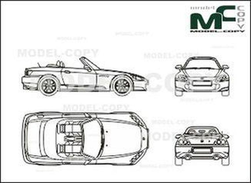Honda S2000 2003 Drawing 26598 Model Copy