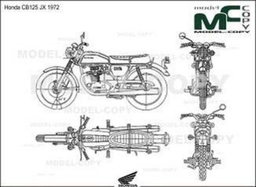 Honda CB125 JX 1972 - drawing