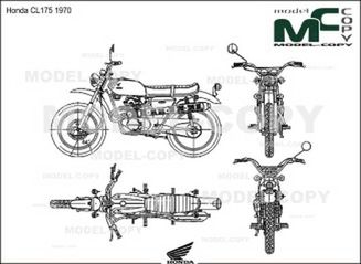 Honda CL175 1970 - 2D drawing (blueprints)