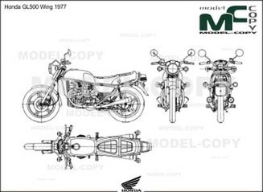 Honda GL500 Wing 1977 - 2D drawing (blueprints)