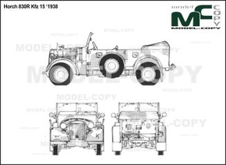 Horch 830R Kfz 15 '1938 - drawing