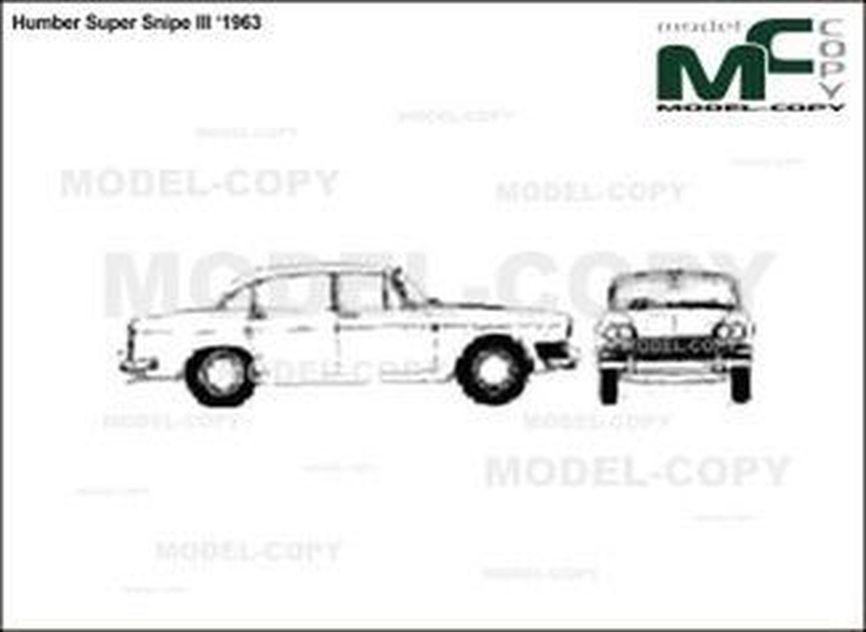 Humber Super Snipe III '1963 - 2D drawing (blueprints)