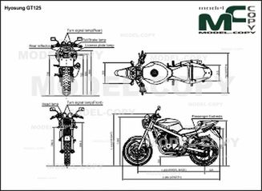 Hyosung GT125 - 2D drawing (blueprints)