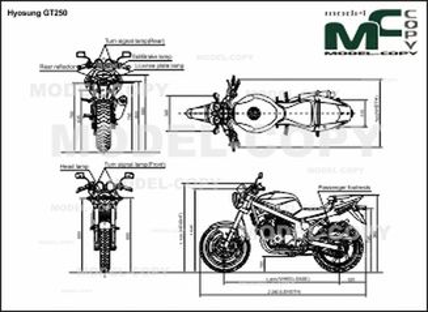 Hyosung GT250 - 2D drawing (blueprints)