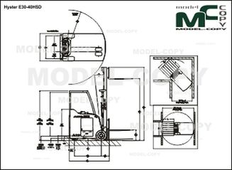 Hyster E30-40HSD - drawing
