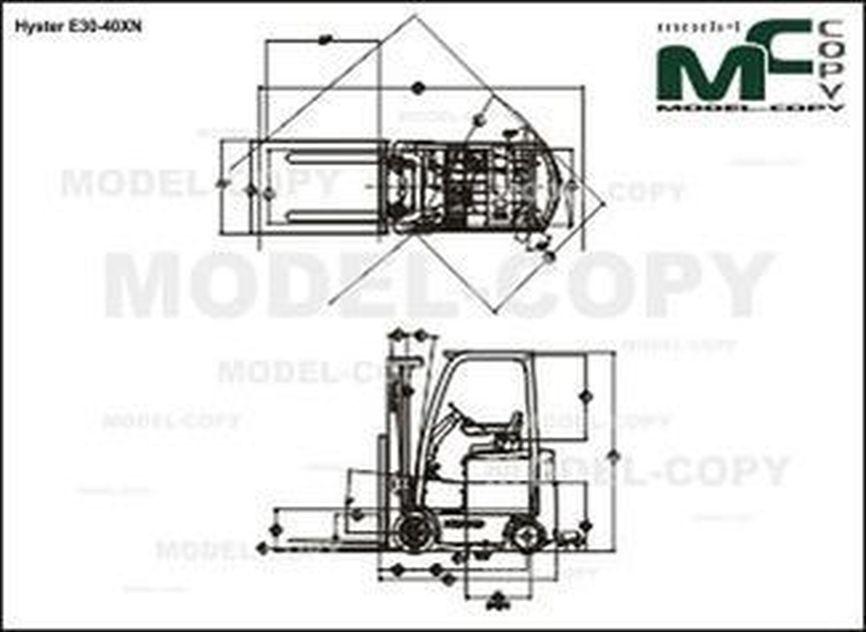 Hyster E30-40XN - drawing