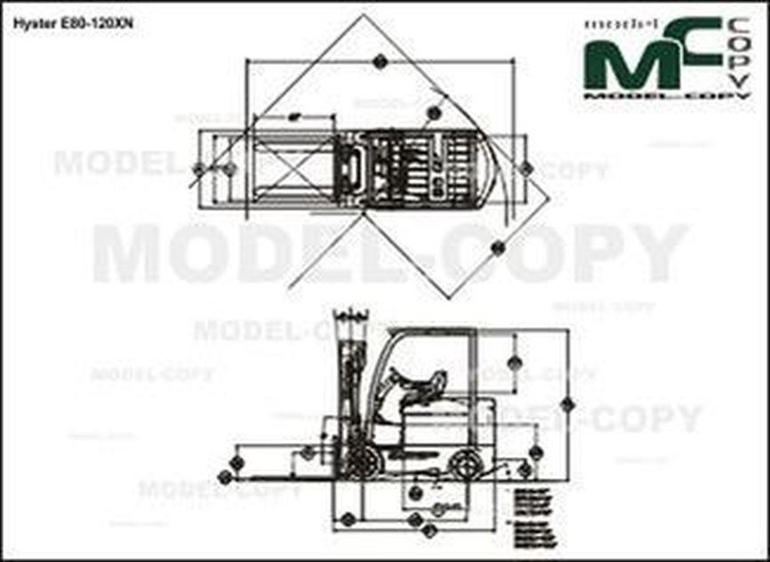 Hyster E80-120XN - drawing
