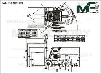 Hyster H135-155FT - drawing