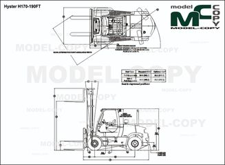 Hyster H170-190FT - drawing