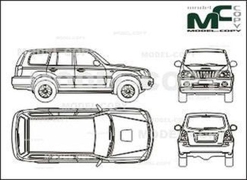 Hyundai Terracan (2001) - 2D-чертеж