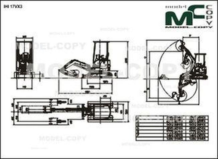 IHI 17VX3 - 2D drawing (blueprints)