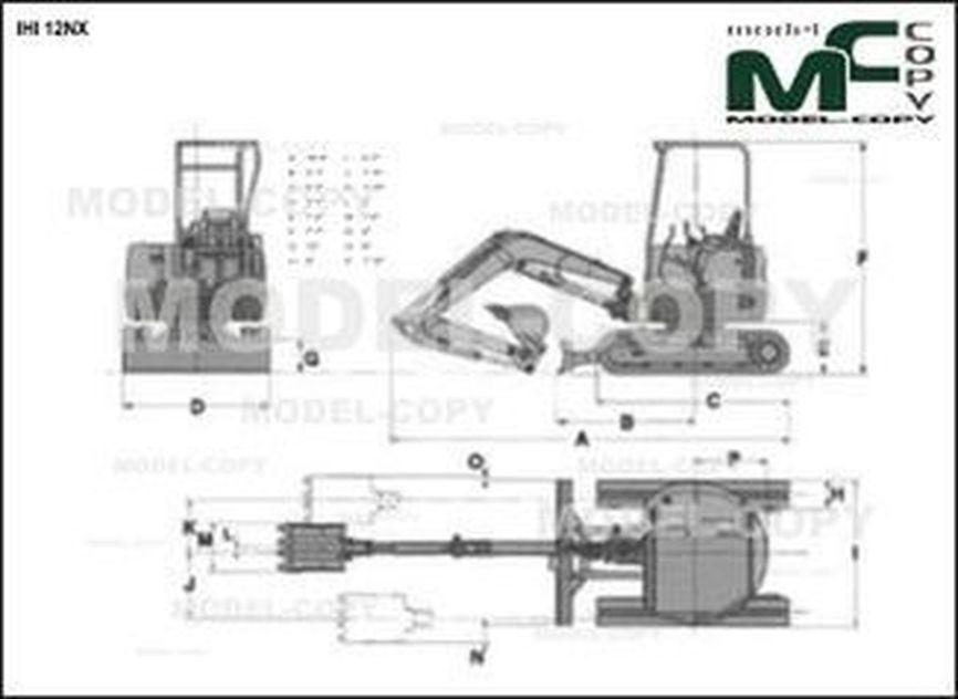IHI 12NX - 2D drawing (blueprints)