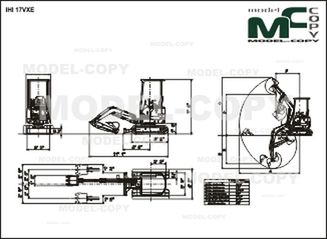 IHI 17VXE - 2D drawing (blueprints)