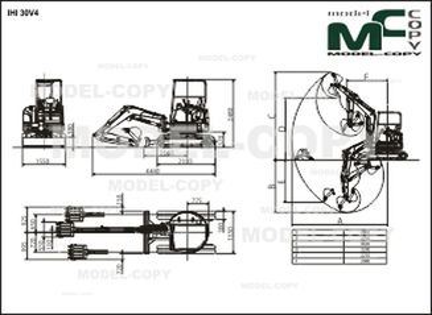 IHI 30V4 - 2D drawing (blueprints)