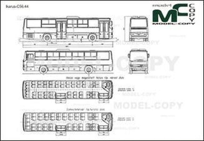Ikarus-С56.44 - 2D drawing (blueprints)