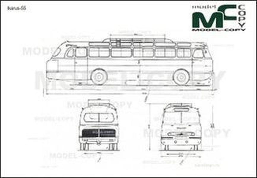 Ikarus-55 - 2D drawing (blueprints)